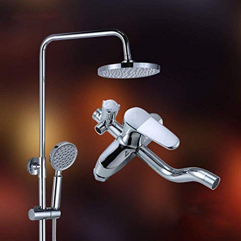 FuweiEncore Dusche Set Badezimmer Messing Aufzug Dusche Set Wand Dusche Set Handbrause