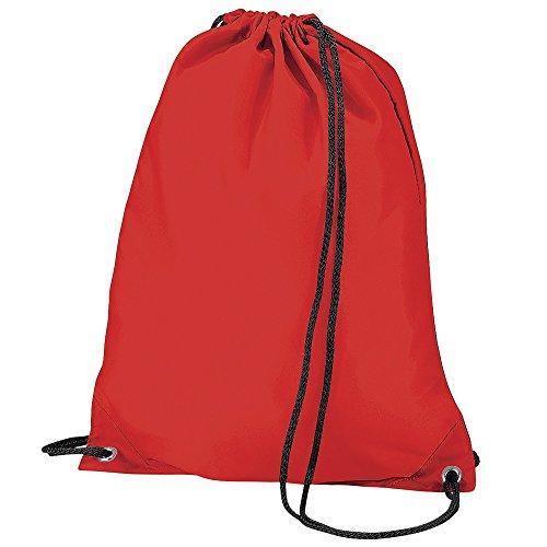 BagBase Budget Turnbeutel, wasserabweisend, 11 Liter One Size,Rot