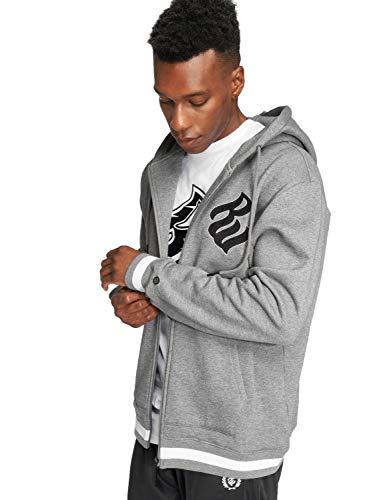 Rocawear Herren Kapuzenpullover Reißverschluss Logo Zip Hoodie mit Markensticklogo
