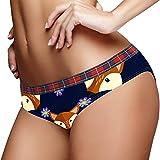 BestIdeas Calzoncillos de mujer de baja altura bragas ropa interior suave Bragas S Fox Pattern
