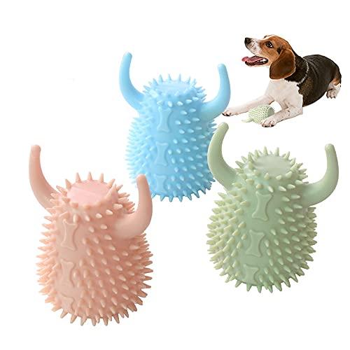 3 PCS Neues bissfestes Hundezahnbürsten-Kauspielzeug Interaktives Training Molar Vocal Pet Anti-Langweiliges Spielzeug