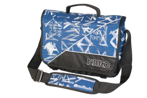 Nitro Snowboards Messenger Bag Evidence, smear midnight, 36 x 30 x 11 cm, 12 liters, 1131878007