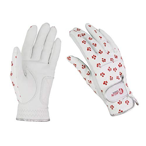 SM SunniMix Gedruckte Frauen Golfhandschuhe Verstellbare Handschlaufe Mädchen Golfhandschuh Mitten