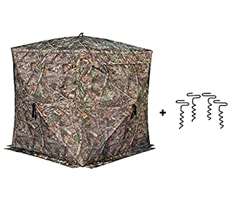 Rhino Blinds R180 3 Person See Through Hunting Ground Blind Realtree Edge
