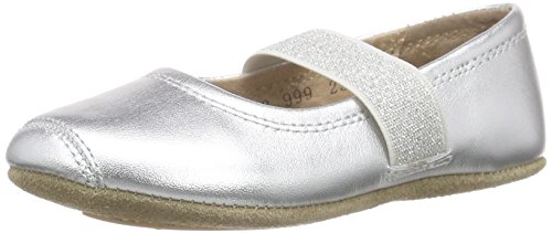 Bisgaard Mädchen Ballet Geschlossene Ballerinas, Silber (01 Silver), 26 EU