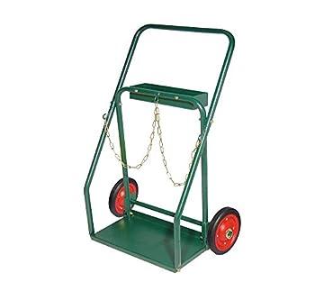 Arc Union Dual Welding Cylinder Cart 10  Solid rubber wheels oxygen acetylene cart