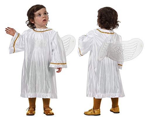 Atosa-32159 Atosa-32159-Disfraz Angel Blanco unisex bebé-talla 12 a 24 meses Navidad, color (32159)
