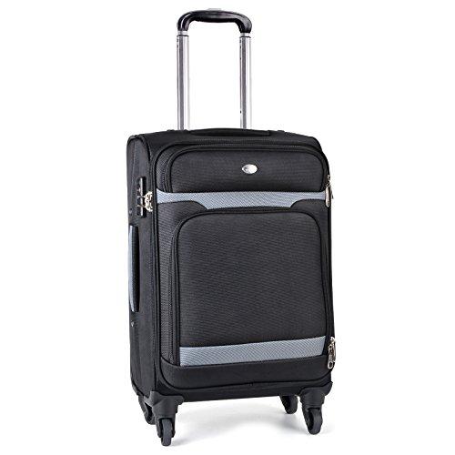 Maleta de Mano, Coofit Maleta de Viaje Equipaje de Mano con 4 Ruedas y Aduaneras Candado TSA