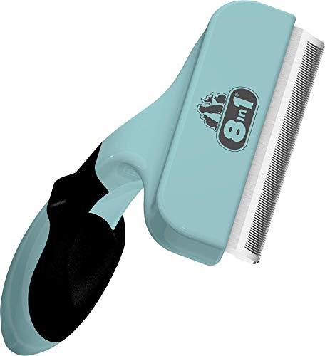 8in1 Coat DeShedder L - Unterfellbürste für große Hunde, für Kurzhaar und Langhaar geeignete Hunde-Bürste