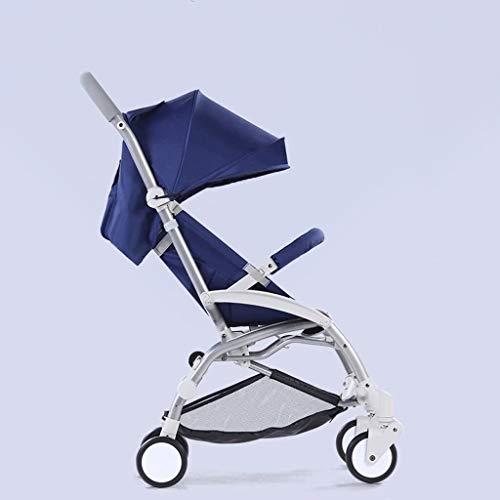 Ligera de peso ligero y conveniente de material de aleación de aluminio Sillas de paseo, plegable libre de la instalación sentarse o acostarse cochecito de bebé, niños simple paraguas del coche