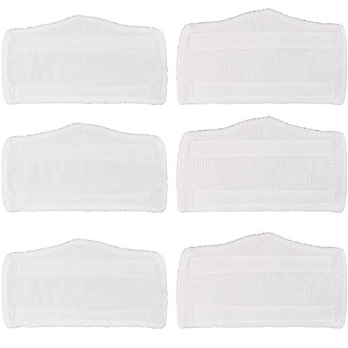 Tidy Monster 6 Pack Microfiber Replacement Washable Cleaning Pads for Shark Steam & Spray Mop S3101 S3202 S3250 SK410 SK435CO SK460 SK140 SK141