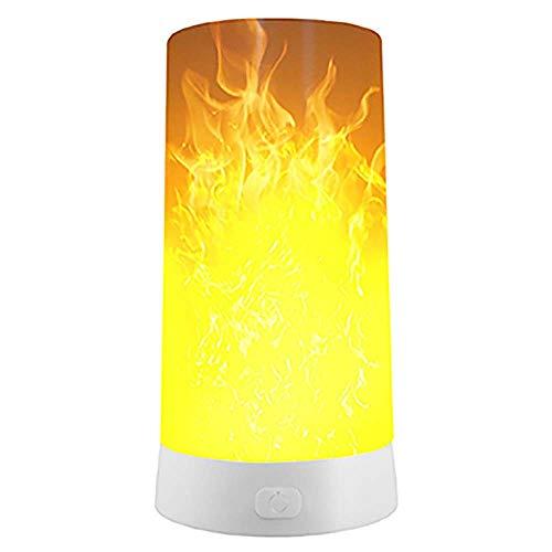 Damai Lampe Portable Veilleuse À Distance Flamme De La Lampe LED Aimant Bar De Nuit Lampe USB À Distance Intelligente 6.8x13cm