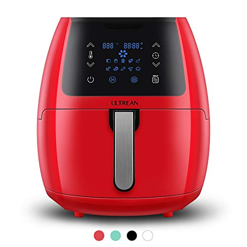 Ultrean 5.8 Quart Air Fryer, Electric Hot Air Fryers Oilless Cooker with 10 Presets, Digital LCD Touch Screen, Nonstick Basket, 1700W, UL Listed,Red…