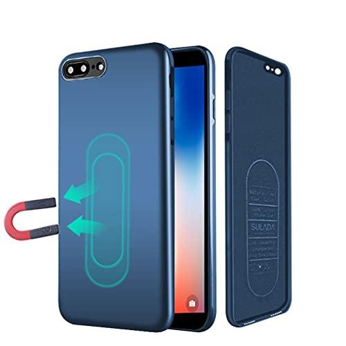 iPhone XR Hülle, [für Magnetische Halterung] Ultra Dünn Soft TPU Handyhülle mit Eingebauter Metal Plate für Magnet KFZ Autohalterung,Phone Hülle für iPhone XR 6.1 Zoll-Blau