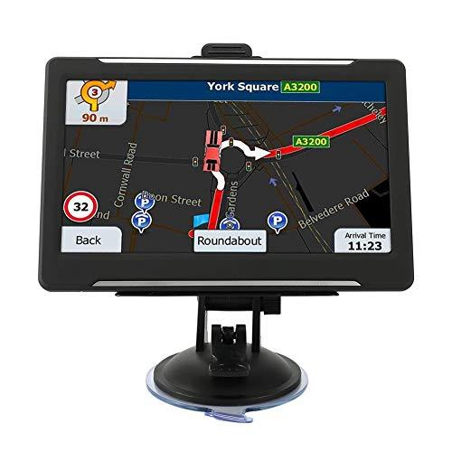 Akozon GPS Navigation Sistema de Coche Con Pantalla Táctil de 7 Pulgadas con el último mapa Gratuito de Todo el Mundo para Navegación por GPS de Automóvil