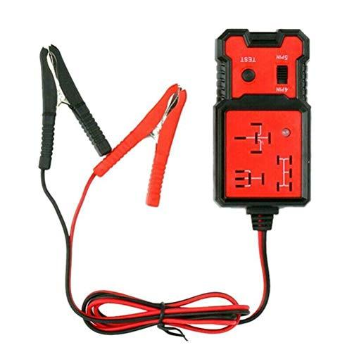 Comprobador de batería de coche de 12 V con clips, herramienta de diagnóstico profesional para análisis de relés automático de batería y lector de códigos