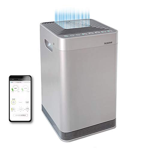 NuWave OxyPure Large Area Smart Air Purifier - Capture and Eliminate Smoke, Dust, Pollen, Mold, Pet Dander, Allergens, Lead, Formaldehyde, Gases, Bacteria, VOCs & Germs - NuWave Air Purifiers for Home