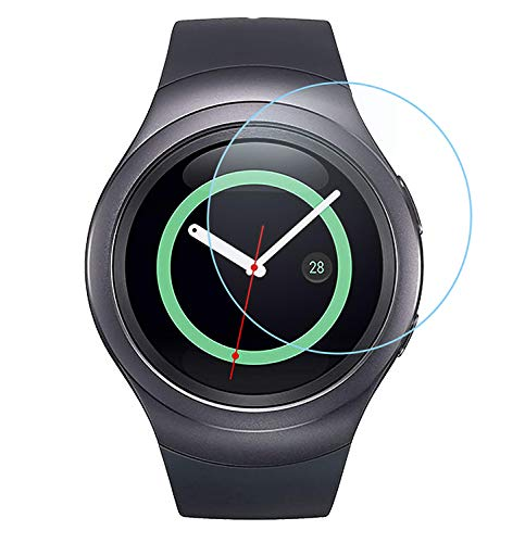 ACUTAS Round Edge Tempered Glass Screen Protector for Samsung Gear S2 Smartwatch