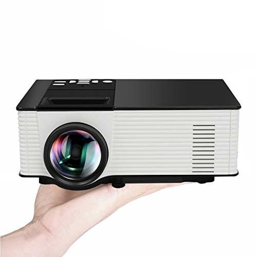 ELEGIANT Portable Projector, Portable Mini Home Theater LED Video Projector 1080P 1500 Lumens 800x480 Resolution for TV Laptop SD Android TV Box Support USB SD AV VGA TV Interface