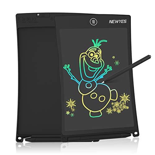 NEWYES Tableta de Escritura LCD a Color,  Pizarra Digital,  Tablet para Dibujar para Niños 8.5 Pulgadas (Negro)