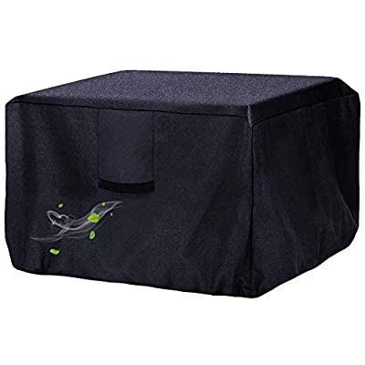Onlyme Fire Table Cover for Outland Living 401 Outdoor Propane Gas Fire Table, 44 Inch Heavy Duty Waterproof Rectangular Fire Pit Cover, Black