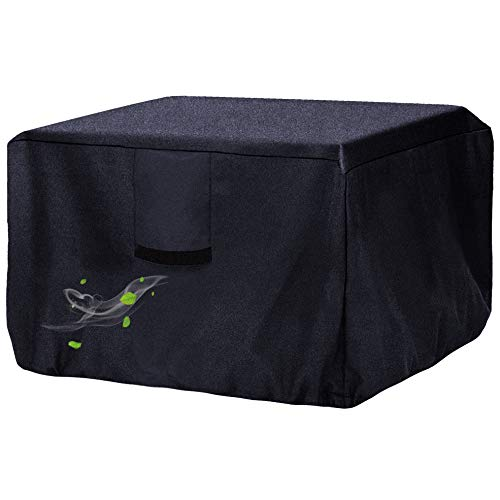 Onlyme Gas Fire Pit Cover Square, Waterproof,Windproof,420D Oxford Fabric Fire Pit Table Cover for Outdoor and Indoor - Black (Square:36 x 36 x 21 inch)