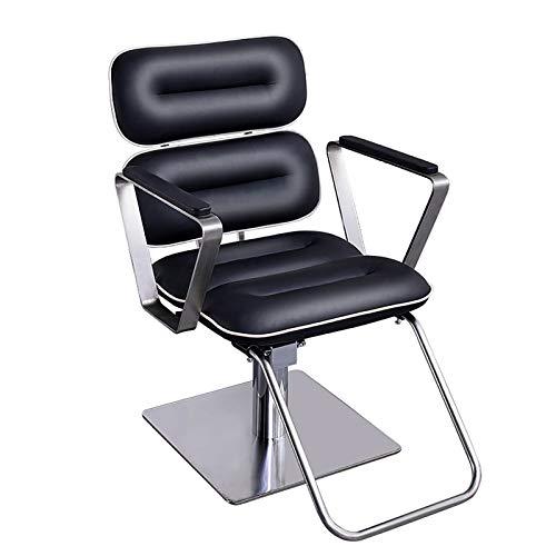 スタイリングチェア 議長小型回転サロンチェアブラック理髪チェアシンプル美容椅子を持ち上げバーバー