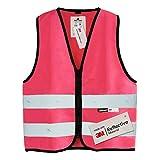 Salzmann 3M Chaleco de seguridad para niños | Hecho con cinta reflectante 3M | Rosa