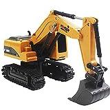 LINXIANG Vehículo de construcción Excavadora controlada por Radio 2.4GHz Inalámbrico 11CH Bulldozer Aleación Versión Mejorada, con luz LED RC Construcción Tractor Toy Beach