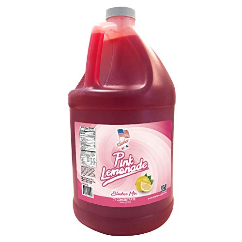 Pink Lemonade Slushee Mix | 1 Gallon - 128oz | (Yields Approx. 96-12oz servings) | Mix 7 Parts Water With 1 Part Syrup