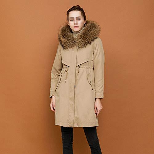 LJYY Pie Vrouwen Overwind Trench Coat Down Jacket Een jurk Drie van Usura dunne lange jas warm Addensare Comfortabel