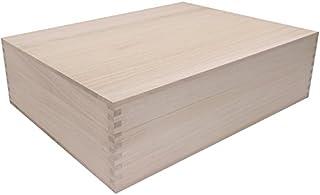 桐箱 高級アリ組(ロッキング)仕様総桐箱 4Lサイズ (A3サイズの書類もラクラク収納、大型和製用品の収納に最適)