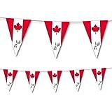 3,5m Wimpelkette * KANADA * als Deko für eine Länderparty von DH-Konzept // Mottoparty Banner Girlande Partykette