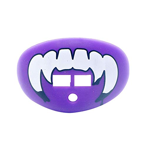 LOUDMOUTHGUARDS Pacifier Lip Protector Mouthguard (Vampire-Frog Dark Purple)