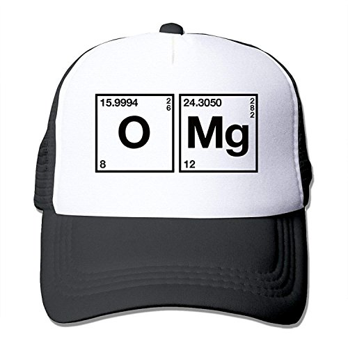 DearLord WZN Oxygen and Magnesium OMG Periodensystem Wissenschaft Chemie Lustiger Hut mit Rot