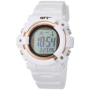 [アリアス] 腕時計 デジタル 電波 ソーラー メンズ ホワイト WT13003RCSOL2