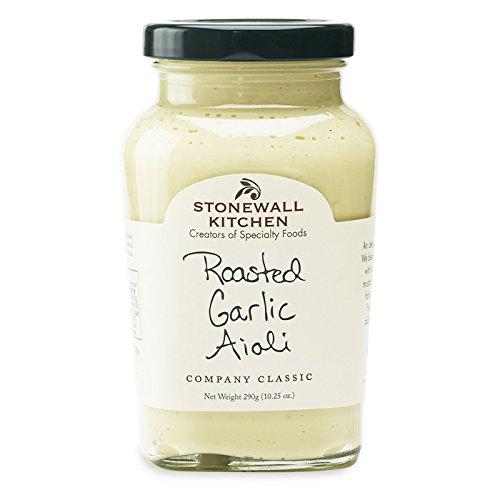Roasted Garlic Aioli von Stonewall Kitchen (290 g) - cremig-intensives Knoblauch Aioli für alle Knoblauch-Fans - mit französischer Mayonnaise und langsam gerösteten Knoblauchzehen