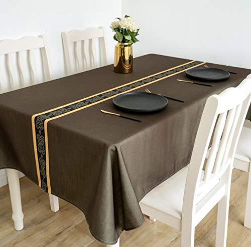 Tafelkleed, waterdicht, eenvoudig, voor restaurant, restaurant, woonkamer, tafelkleed, stofbescherming