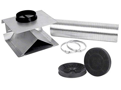 Silverline USET 40 + AF 100 Umluft-Set + 2 Aktivkohlefilter DUNST HAUBE Zubehör