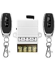 YETOR draadloze afstands schakelaar, 220V / 230V / 240V / 40A relais Draadloze RF schakelaar voor huishoudelijke apparaten, pomp, verlichtingsplafond en elektrische apparatuur met een bereik van 328FT (wit)