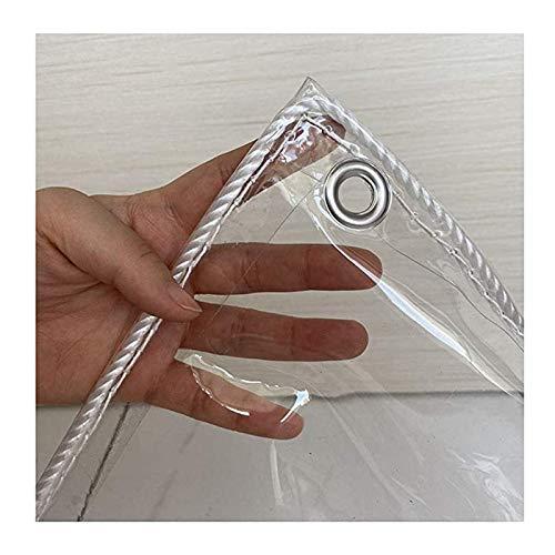 GFSD Transparente Plane Terrassenmöbelabdeckung Hohe Transparenz PVC-Weichglas wasserdichte Plane for Camping Angeln Gartenarbeit Pflanze Regenfest (Color : Clear, Size :...