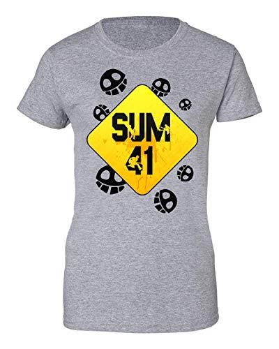 Wicked Design Sum 41 Logo T-Shirt da Donna X-Large