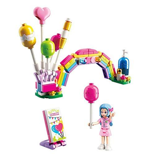 Siyushop City Rainbow Balloons, Jouets Blocs de Construction pour Filles, Jouets Blocs de Construction, Jouets Blocs de Construction pour Filles, Kit de Construction (107 Pièces)