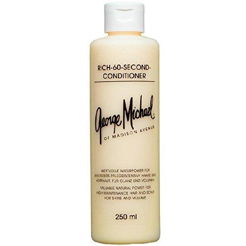 George Michael Rich-60-Second-Conditioner 250 ml Pflegekur für besonders pflegeintensive Haare, bringt Glanz & Volumen