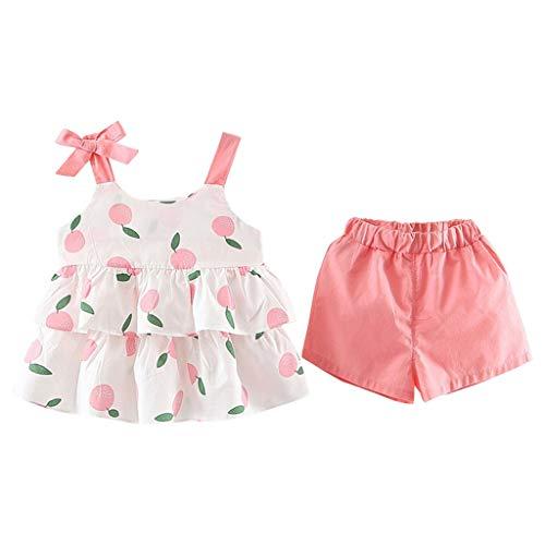 KEERADS KIDS été Toddler Kids Bébés Filles Ruffled Strap Fruits Imprimer Tops Shorts 2PC Tenues Ensembles 1 2 3 4 5 6 7 9 Ans Les magasins Ont