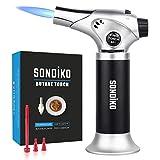 Flambierbrenner, Sondiko Nachfüllbar Küchenbrenne Flambierbrenner mit Sicherheitsschloss,...