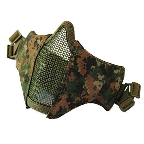 Sarplle CS Maske Tactical Schutzmaske Paintball Staubmaske Verstellbare Halbmaske für Männer Frauen Cosplay, Venezianischen, Karneval, Airsoft