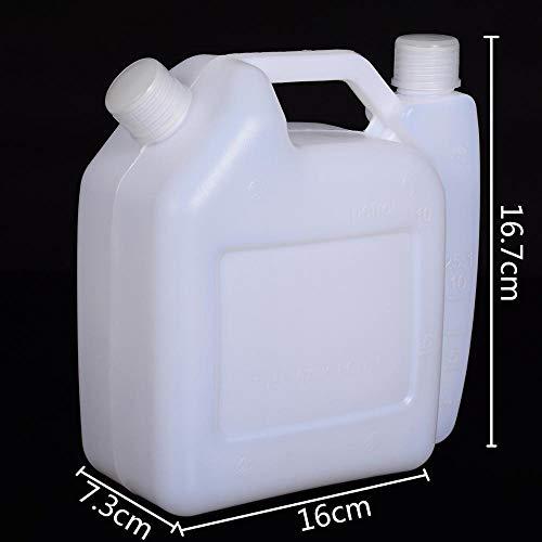 LIBEI Botella mezcladora de Aceite de Gasolina de Repuesto de 1,5 l Aceite de 2 Tiempos para Motosierra Strimmer 25: 1 y 50: 1 Herramientas eléctricas de jardín Uso Universal