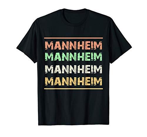 Mannheim Stadt T-Shirt Retro Vintage Für Mannheimer