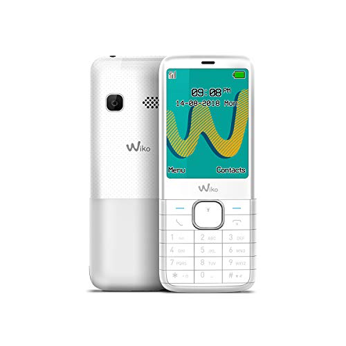 "WIKO Riff3 Plus – Teléfono móvil Libre con Teclas de 2,4"" (Dual SIM, Radio FM, admite Micro SD, Bluetooth, Linterna LED y Reproductor MP3) – Color Blanco"